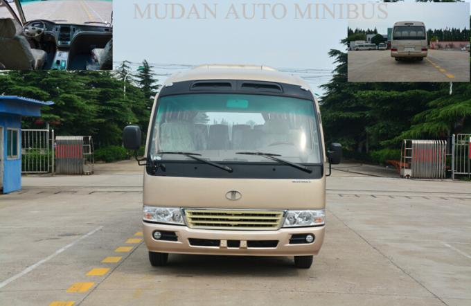 Durable Toyota Coaster Minibus 24 Passenger Van Left Power Steering