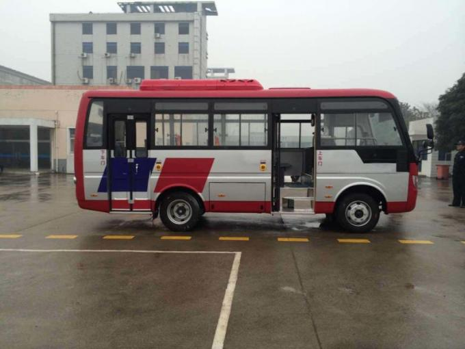 Durable Red Star Travel Buses With 31 Seats Capacity Small Passenger Bus For Company