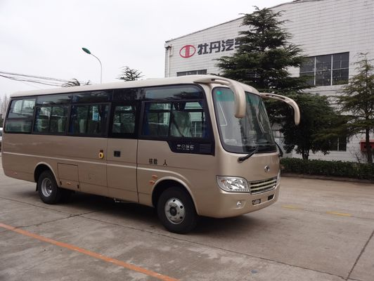Trung Quốc School Transportation Star Type 30 Passenger Mini Bus With Aluminum Hard Door nhà cung cấp
